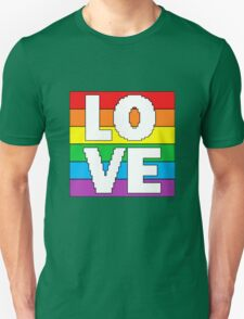 8 bit Rainbow Love Flag (LGBT)  Unisex T-Shirt