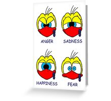 Rick the chick facial expressions Greeting Card