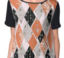 Patchwork floral seamless pattern texture background Chiffon Top