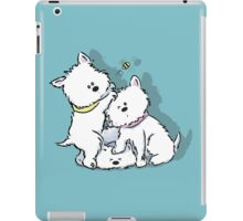 Westie Siblings Chasing the Bee iPad Case/Skin