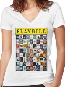 Playbill Design Women's Fitted V-Neck T-Shirt