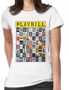 Playbill Design Womens Fitted T-Shirt