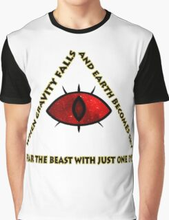 Gravity Falls- bill cipher fear the beast Graphic T-Shirt