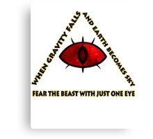 Gravity Falls- bill cipher fear the beast Canvas Print