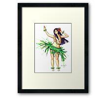 Hula Girl Framed Print
