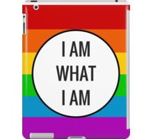 I AM WHAT I AM ~ rainbow iPad Case/Skin