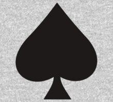 ACE of Spades T-Shirt Lucky Lady Luck Sticker Skirt Duvet One Piece - Short Sleeve