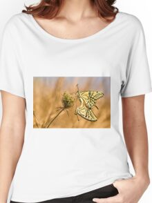 Two mating Southern swallowtail (Papilio alexanor) butterflies Women's Relaxed Fit T-Shirt