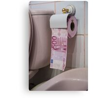 Devalueing the Euro Canvas Print