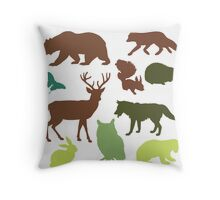 Wild Animals Throw Pillow