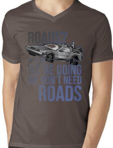 Delorean Mens V-Neck T-Shirt