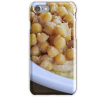 Hummus. A Levantine Arab dip or spread made from cooked, mashed chickpeas,  iPhone Case/Skin