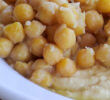 Hummus. A Levantine Arab dip or spread made from cooked, mashed chickpeas,  Sticker