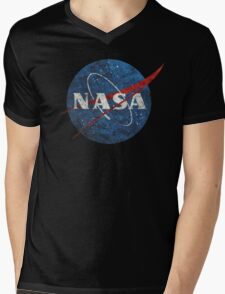 NASA Vintage Emblem Mens V-Neck T-Shirt