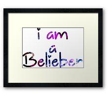 I am a Belieber - Justin Bieber  Framed Print