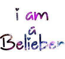 I am a Belieber - Justin Bieber  Photographic Print