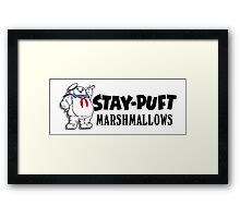 Ghostbusters - Stay Puft Marshmallows  Framed Print