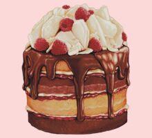 Chocolate Raspberry Cake Pattern Baby Tee