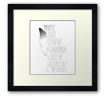 A.Hamilton t-shirt, Write like you're running out of time Framed Print