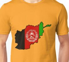 Afghanistan Map With Afghan Flag Unisex T-Shirt