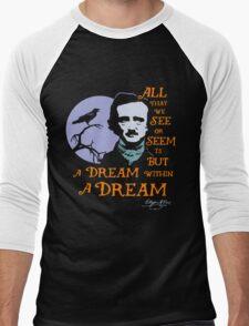 Edgar Allan Poe Dream Within A Dream Men's Baseball ¾ T-Shirt