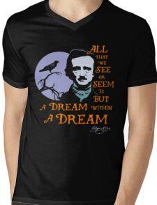 Edgar Allan Poe Dream Within A Dream Mens V-Neck T-Shirt