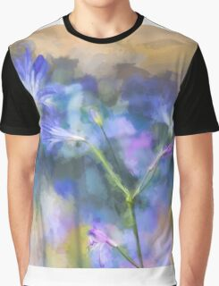 Blue flower panorama Graphic T-Shirt