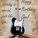 Birthday Guitar by bellecards