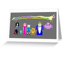 8 BIT ADVENTURE Greeting Card