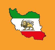 Iran Map With Iranian Flag Unisex T-Shirt