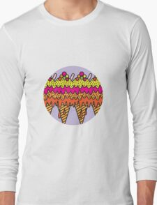 Mega Ice Cream Cone Long Sleeve T-Shirt
