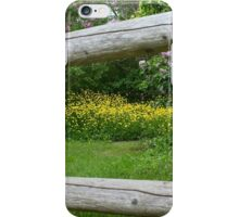 Flowers & Fence iPhone Case/Skin