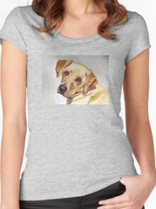 A Mellow Yellow Women's Fitted Scoop T-Shirt