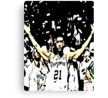 Tim Duncan Winning Canvas Print