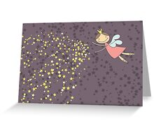 Whimsical Magic Fairy Princess Sprinkles Greeting Card