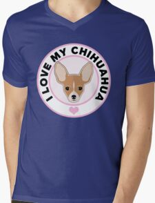 Love My Chihuahua Mens V-Neck T-Shirt