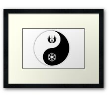 Jedi Yin and Sith Yang Framed Print