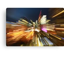 Light trails of Brisbane Canvas Print