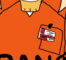 orange is the new brak Sticker