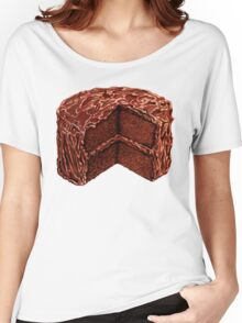 Devil's Food Cake Pattern Women's Relaxed Fit T-Shirt