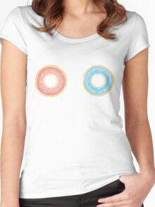 Donut Stare Women's Fitted Scoop T-Shirt