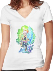 Final Fantasy Crystal Chronicles Women's Fitted V-Neck T-Shirt