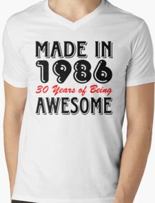Made in 1986, 30 Years of Being Awesome Mens V-Neck T-Shirt