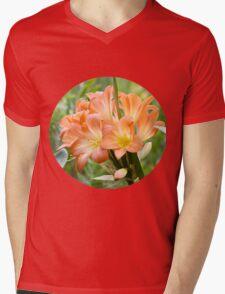 Orange Lilium Mens V-Neck T-Shirt