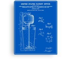 Beverage Mixer Patent - Blueprint Canvas Print