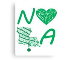 I heart NOLA (Green) Canvas Print