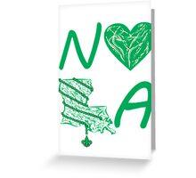 I heart NOLA (Green) Greeting Card