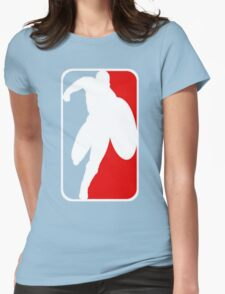 CAPTAIN AMERICA NBA STYLE T-SHIRT Womens Fitted T-Shirt