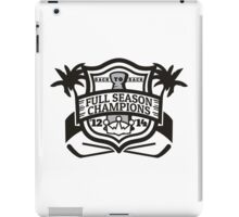 Back to Back Full Season Champions - Modern iPad Case/Skin