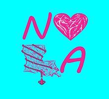 I heart NOLA (Pink/Cranberry) by StudioBlack